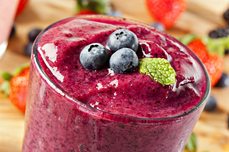use frozen fruit in your smoothie